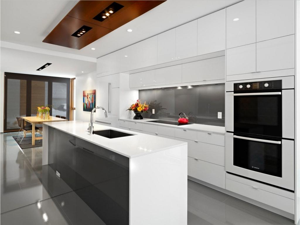 Meuble Micro Onde Ikea high gloss lacquer kitchen cabinet modern design - sino